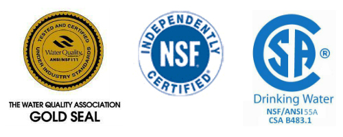 Water treatment certifications
